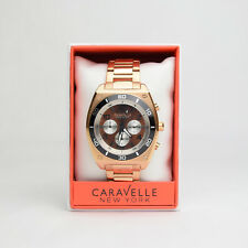 (Lot of 10) Caravelle By Bulova Men's Watch Rose Strap Quartz 45A110 NEW IN BOX