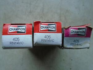 NOS Champion Spark Plugs Brand New RN14YC Set of 3 Stock #405