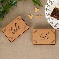 Kraft Boxes Birthday Cake Boxes Wedding Favour Rustic Print Script Bride