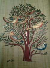 #62 HAND PAINTED EGYPTIAN ART ON PAPYRUS, TREE OF LIFE COLOR NEW