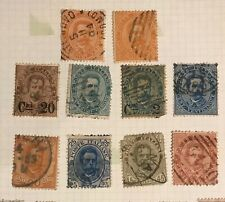 Italy postage stamps lot of 10 old