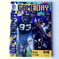 NFL Gameday Magazine   Dolphins VS Vikings Aug. 19 1996 Joe Robbie