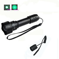 UniqueFire T20 Zoomable CREE Green Light Hunting Flashlight Torch Rat Tail 18650