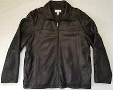 Calvin Klein CK Leather Men's Jacket Black Size XL- Vintage
