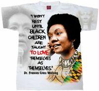 Dr. Frances Cress Welsing T-Shirt. Black Power Tees. Melanated T-Shirts Afrocent