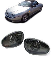 Klarglas Seitenblinker schwarz Blackchrom für ALFA Romeo 145 146 GTV Spider