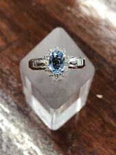 ESTATE - Vintage Aquamarine & Diamond Cluster Ring
