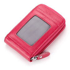 Leather Slim Mens Womens Mini Wallet ID Credit Card Holder Case Organizer Purse