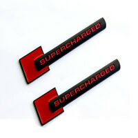 2x OEM Supercharged Emblems Badges Decal For A4-8 Q3-5 7 TT Z Red Black