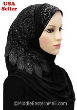 Shayla-Muslim Arab women Islamic clothing D-C Black Hijab Al Amira Hijab -Scarfs