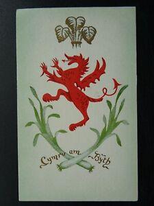 Wales LEAK & DRAGON - CYMRU AM BYTH - Old Greeting Postcard by Wm. M. Dodson