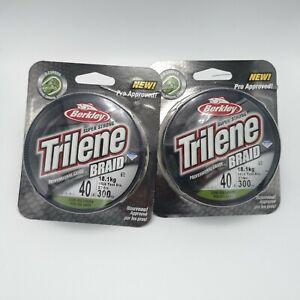 (2 packs) Berkley Trilene Braid PE Fishing Line 40LB or 65LB 300YD