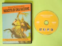 DVD Film Ita Avventura NASCITA DI UNA NAZIONE david wark griffith no vhs cd (T4)