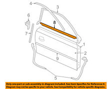FORD OEM Mustang Door-Window Sweep Belt Molding Weatherstrip Right 6R3Z6321452A