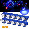 10Pcs/set T5 B8.5D 5050 1SMD Dashboard Dash Gauge Instrument LED Light Bulbs