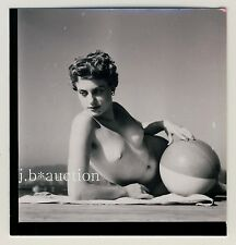 Stoccarda nudo il Max-Eyth-see Nude Girl Boating * 60s Seufert contact Print #9