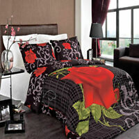 4PC OR 8PC Silky Soft and Smooth Hayden Printed Floral Combed Cotton Bedding Set