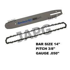 """14"""" Bar & Chain Set, McCulloch Mac 335, 338, 435, 436, 438, 440, 738 Chainsaw"""