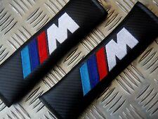 2 DELUXE PU CARBON FIBER Seat Belt Pads Fits All - BMW M-Sport M-Teck M-Power M3