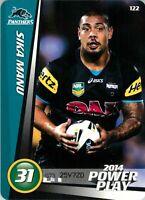 ✺New✺ 2014 PENRITH PANTHERS NRL Card SIKA MANU Power Play