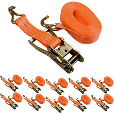x10 50MM 10Metre 5 Ton Recovery Ratchet Strap 5000KG 5T Tie Down Claw Hook