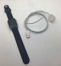 Apple Watch Sport 38mm 7000 Series Silver Case Black Sport Strap Bands