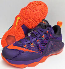 NIKE LeBron XII 12 Low COURT PURPLE/BRIGHT CRIMSON Basketball Shoes 5Y Women 6.5