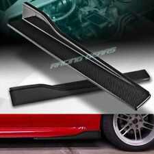 "2PC UNIVERSAL CARBON LOOK SIDE SKIRT ROCKER SPLITTERS WINGLET DIFFUSER 23.5""X4"""
