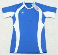 New Mizuno Short Sleeve Tee T-Shirt Top Woman's Purple White Small Volleyball