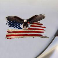 12.5*7.5cm Bald Eagle USA American Flag Car SUV Window Decal Sticker Accessories