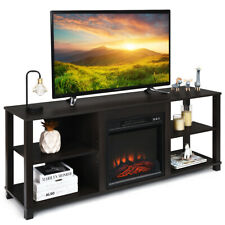 2-Tier TV Stand Storage Display Cabinet Adjustable Shelves Living Room UP TO 65""