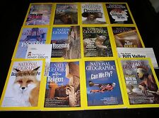 12 NATIONAL GEOGRAPHIC MAGAZINE COMPLETE SET 2011 ~ INCLUDES ALL SUPPLEMENTS