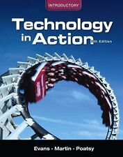 NEW Computer Book INTRODUCTORY TECHNOLOGY IN ACTION 8th Ed '12 Evans Martin Poat