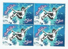 2006 AUSTRALIA STAMP BLOCK 'EXTREME SPORTS - SURFING' - 4 X 50c MNH STAMPS