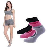 Women Yoga Socks Non Slip Skid with Grips Pilates Fitness Ballet Exercise Gym ~