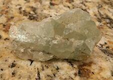 Unknown Light Blue Quartz Crystal Rock Geode Specimen