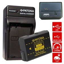 patona enel14 batteria en-el14 con caricabatteria mh-24 4/1 patona