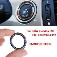 New Carbon Fiber Engine Key Start Button Ring Trim For BMW 3 Series E90 E92 E93