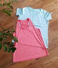 Nike / Under Armour Athletic Yoga Gym Running Shirts Women's Size XL (Lot of 2)
