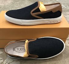 $595 New Tods Mens Shoes Sneakers Dark Blue 5.5 US 6.5 UK 39.5 EU