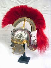 Roman Centurian helmet-Gallic red(FR) With liner free helmet stand