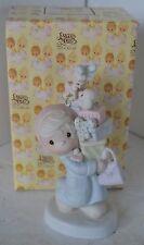 Precious Moments Porcelain Figure 1982 Bundles Of Joy With Box