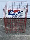 Ruppert Knickerbocker Red Wire Beer Store Display Rack White Blue Toast Graphic