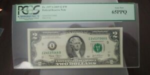 2 $2 DOLLARS 2003 FEDERAL RESERVE NOTE Minneapolis PCGS 65 PPQ