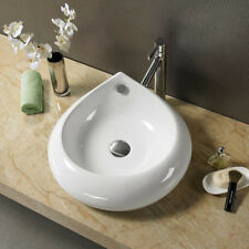 Bathroom  Ceramic Porcelain  Vessel Vanity Sink & Chrome Pop Up Drain 7775