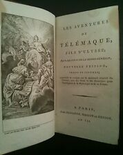 1799 Adventures of Telemachus MOTHE-FENELON Greek Myth Ulysses Engravings Paris