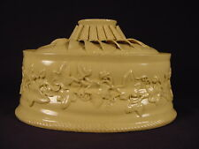 VERY RARE MAGNIFICENT EARLY 1800s 3 PIECE GAME DISH WITH LINER YELLOW WARE