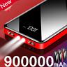 900000mAh Power Bank 2 USB External Battery Huge Capacity Portable Charger