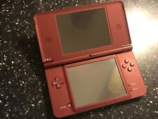 NINTENDO DSi XL BURGUNDY CONSOLE FAULTY PARTS SPARES OR REPAIR needs new battery