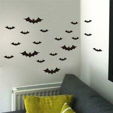 20Pcs Halloween Flying Bats Wall Stickers Room Decoration Home Decor Mural New
